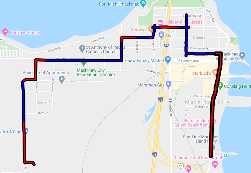 Picture of Mackinaw City Fiber Map